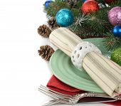 Holiday Decorations And Cutlery