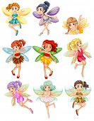 pic of fairies  - Illustration of many fairies flying - JPG