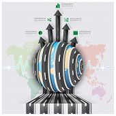 Global Road And Street For Travel And Journey Business Infographic
