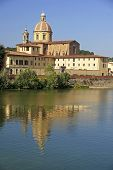 River Arno And Church San Frediano In Cestello - Florence