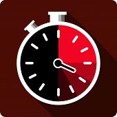 Stopwatch flat icon