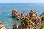 Ponta Da Piedade, Rock Formations Near Lagos In Portugal