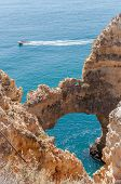 pic of lagos  - Ponta da Piedade beautiful rock formations near Lagos in Portugal - JPG