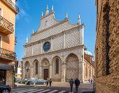 Facade Of Cathedral Santa Maria Annunziata In Vicenza