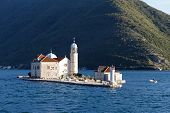 Our Lady Of The Rocks (gospa Od Skrpjela) Is Island And Church Near Perast In The Bay Of Kotor (boka