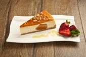 pumpkin cheesecake concept