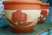 Pottery Floral Designs