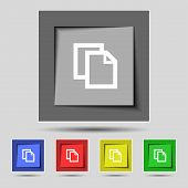 Edit document sign icon. content button. Set colourful buttons Modern UI website navigation. Vector