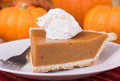Pumpkin Pie Slice Closeup