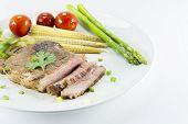 Steak Pork Oyster Sauce with Vegetables