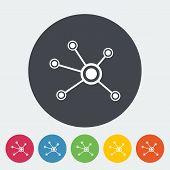Social network single icon.