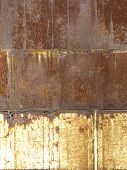 Rusted Metal Background  Divided Into Three Parts