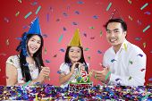 Happy Family Celebrate Birthday Party