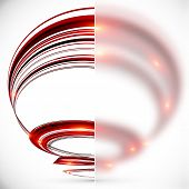 Abstract spiral with blurred glass banner