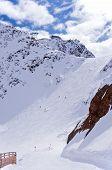 Ski Pistes In Solden, Austria