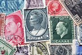 Vintage Greece postage stamps