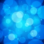 Blue bokeh effect vector abstract background
