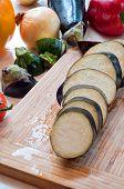 Fresh organic vegetables cuted