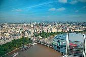 LONDON, UK - SEP 26: London Eye over Thames River on September 26, 2013 in London, UK. It is Europe'