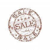 Sale grunge rubber stamp