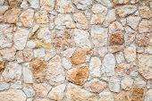 Background Photo Texture Of Yellow Gray Stone Wall