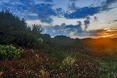 sunrise in France Hendaye