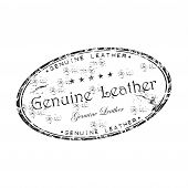 Genuine leather grunge rubber stamp