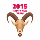 Goat - Merry Christmas and Happy New Year 2015 illustration