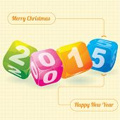 2015 year (design element for calendar, greeting cards, sales stickers)