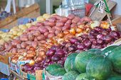 Israel Market Produce: Assorted Onion And Potatoes