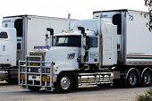 Parking Area For The Huge Australian Trucks