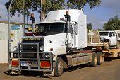 Australian Truck Parked In Downtown Leonora
