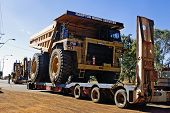 Transporting A Large Dumper Truck On A Road