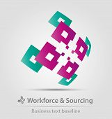 Workforce and sourcing Business Icon