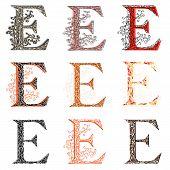 Various Combination Fishnet Letter E.