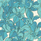 Vector Pattern consist of Orchids