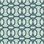 Vintage decor seamless pattern, geometric background with circles intertwine.
