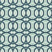 Vintage decor seamless pattern, geometric background with circles intertwine.