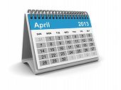 Calendar 2013 - April