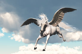 image of workhorses  - The creature of ancient fable and myth - JPG