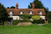 A row of medieval cottages