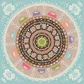 Mandala. Round ethnic ornament