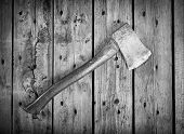 Old Axe Black And White