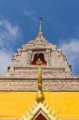 pagoda under the sun light at wat bangnomko