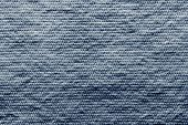Texture Wadded Fabric Of Blue Color