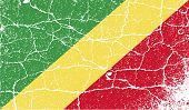 Flag Of Congo Republic With Old Texture. Vector