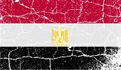 Flag Of Egypt With Old Texture. Vector