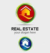 House home logo, round icon