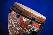 African Latin Djembe Drum On Blue