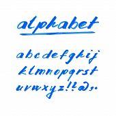 Hand Drawn Vector Alphabet, Marker Or Ink Font